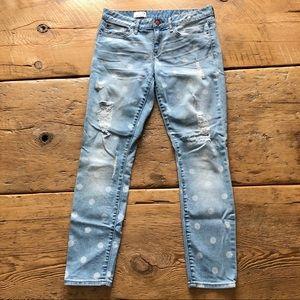GAP Polka Dot Distressed Jeans